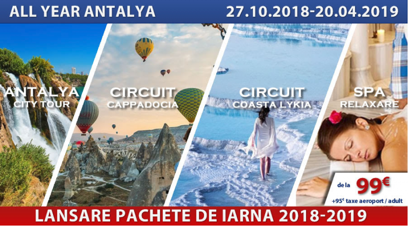 All Year Antalya de la 99 euro - Pachete charter 2018-2019